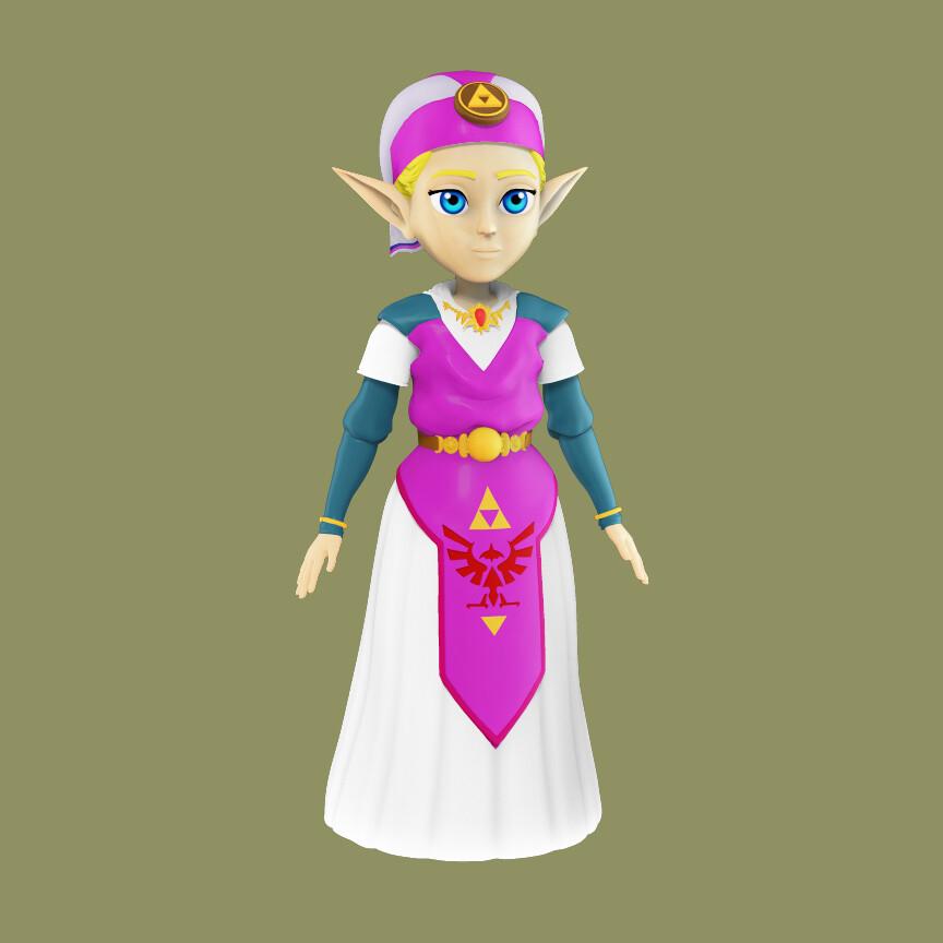 Artstation Young Princess Zelda Fanart From Ocarina Of