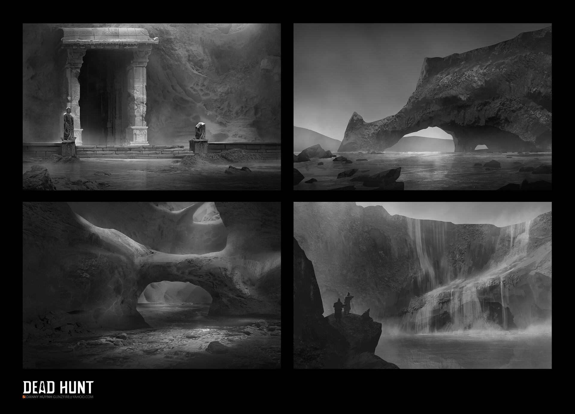 Early inspirational thumbnails to set mood and style of the project.