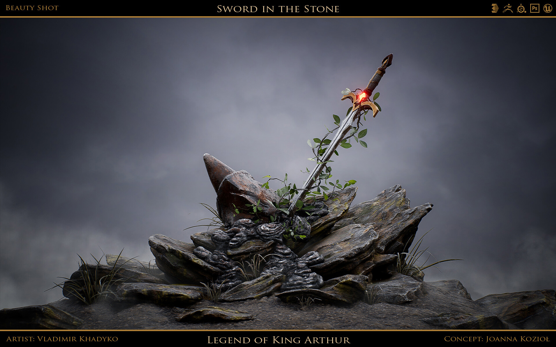 Artstation Sword In The Stone Vladimir Khadyko