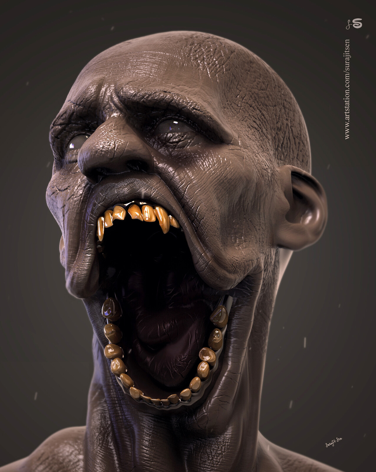 Updated version one of my speed Digital sculpting study! 