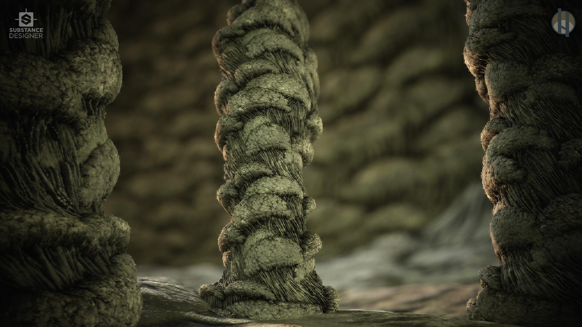 Justin hrala cave stalactite wall column