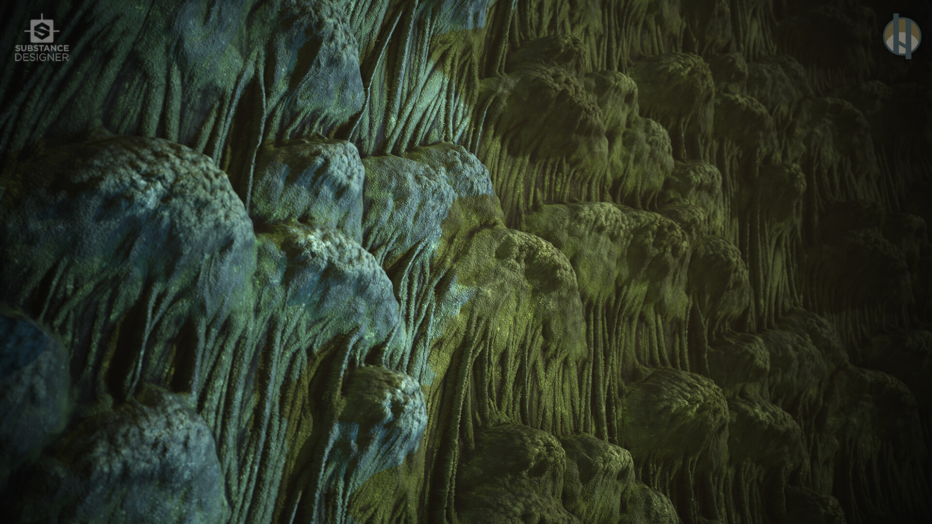 Justin hrala cave stalactite wall wide