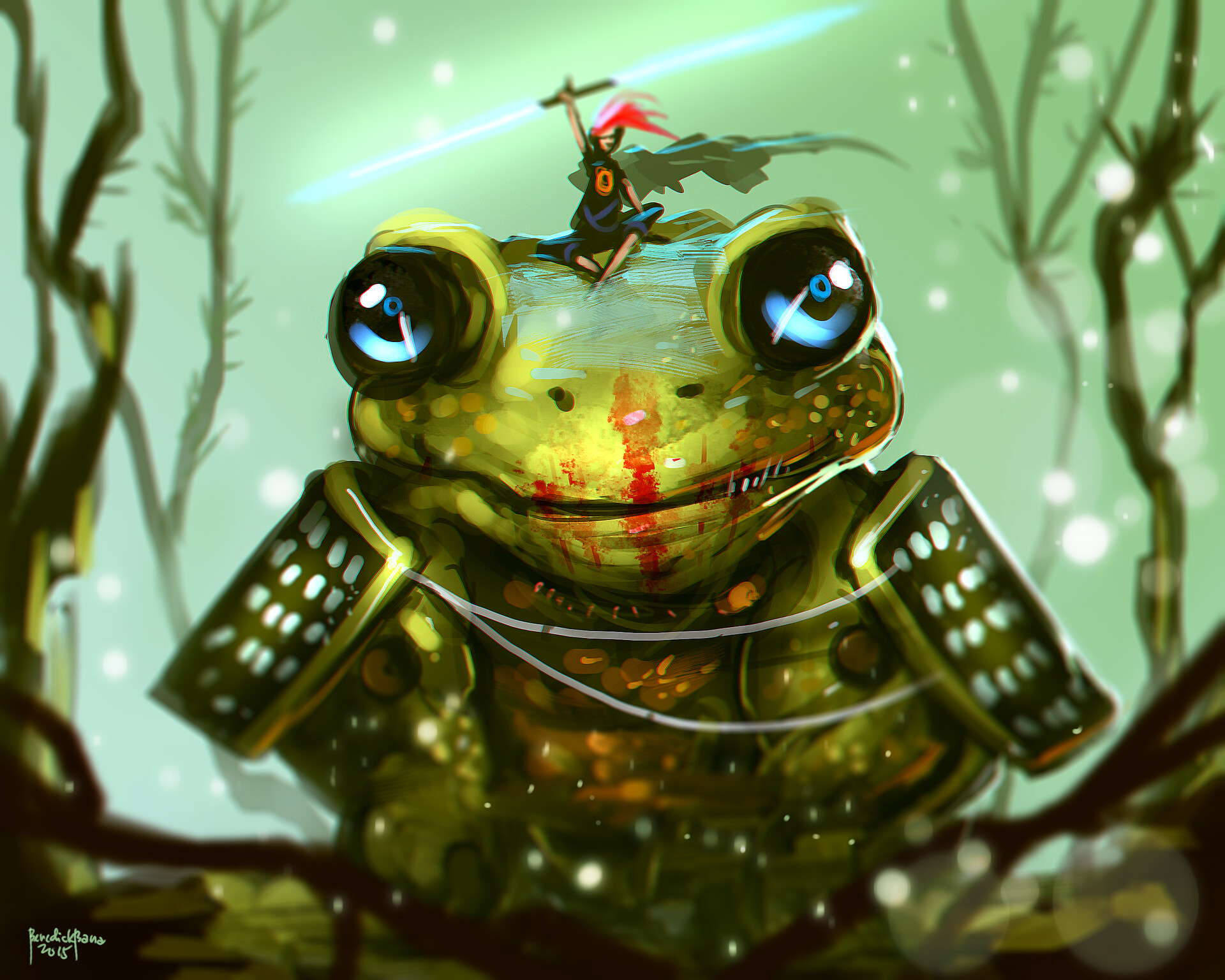 """2015 Artwork """"Red Ronin and the Great Frog"""""""