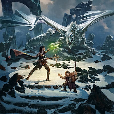 Greg rutkowski dragon of icespire 1600 sharp