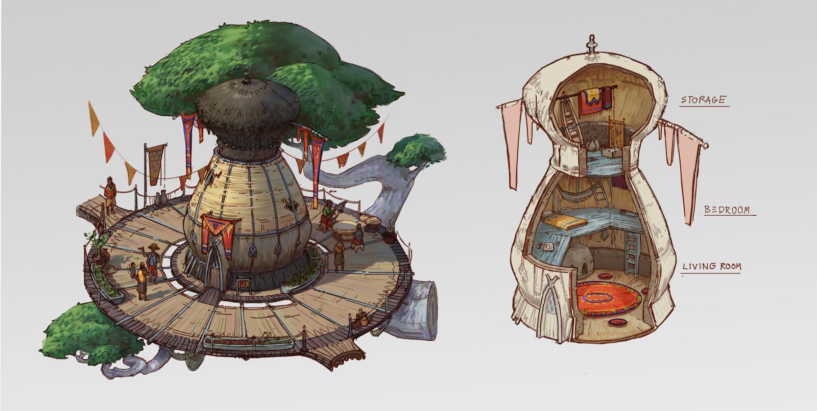 Rhyzo Village designs