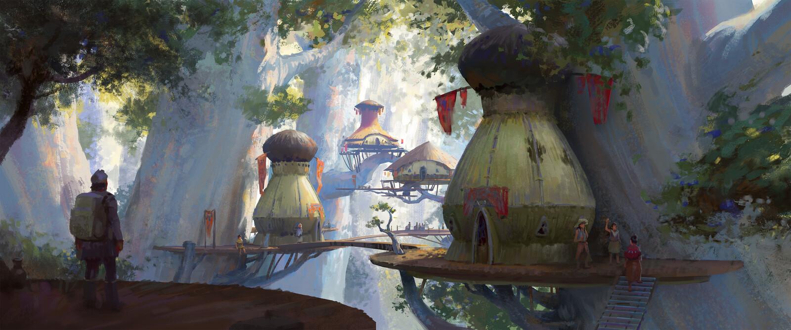 Rhyzo VIllage Illustration
