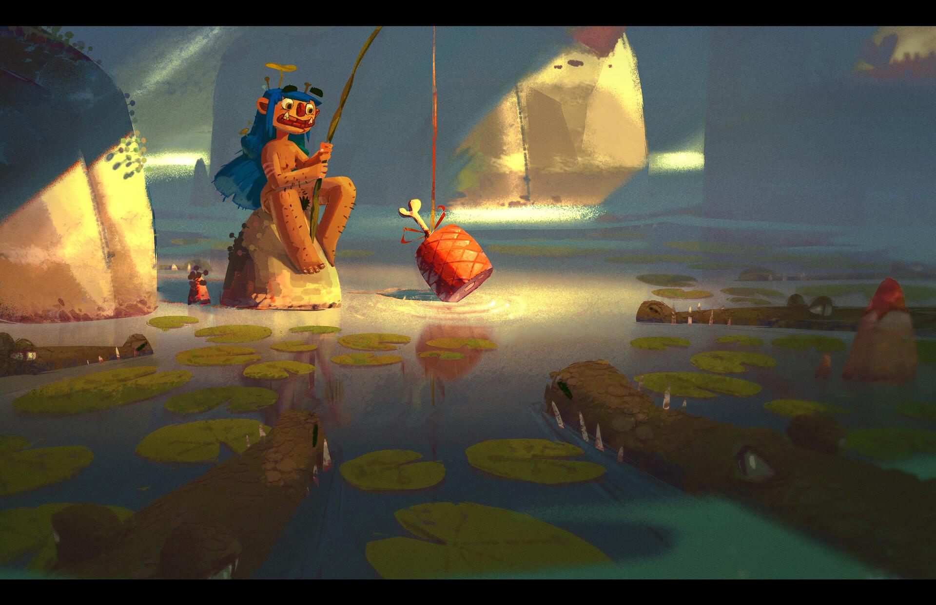 The fishing.