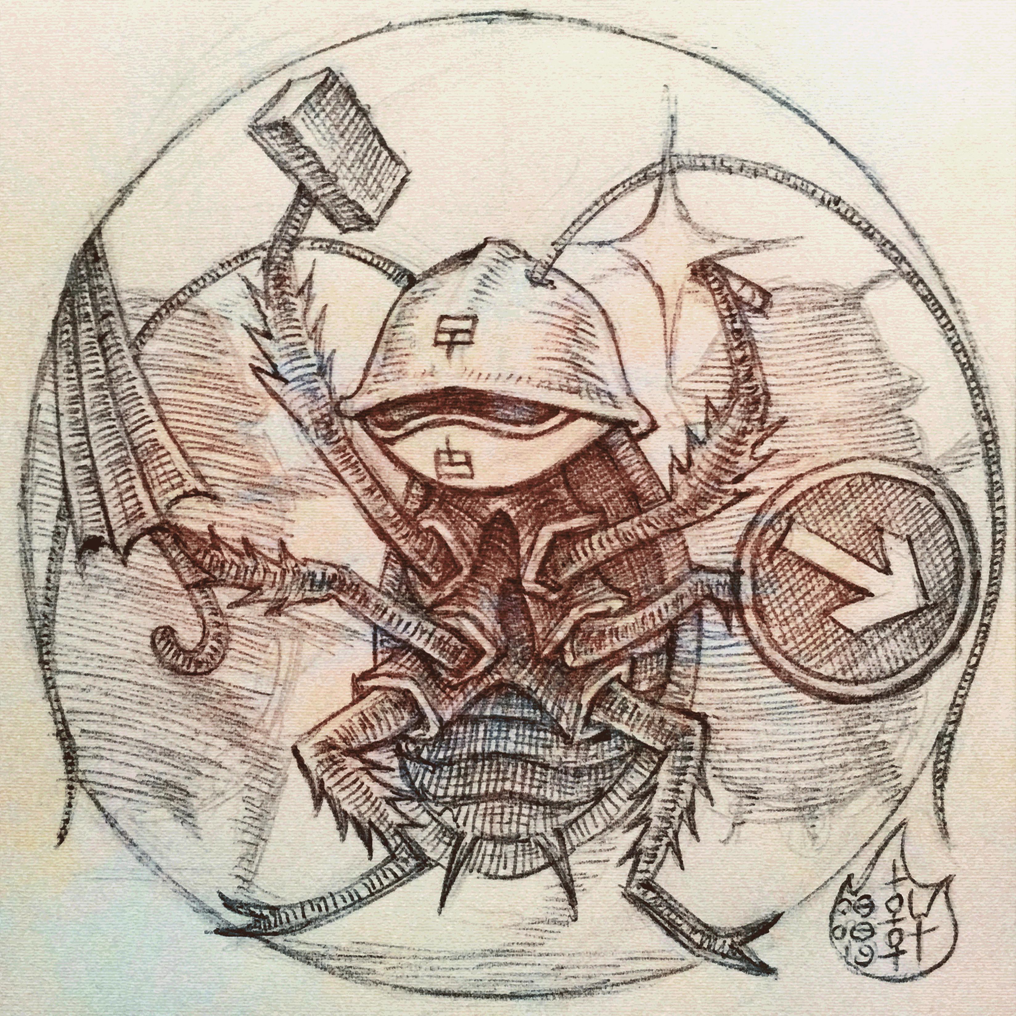 MMORPG Roach Warriors - Sketch