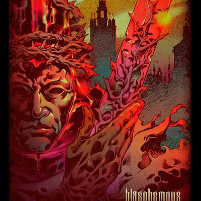 Sergio cabanillas blasphemous poster 03