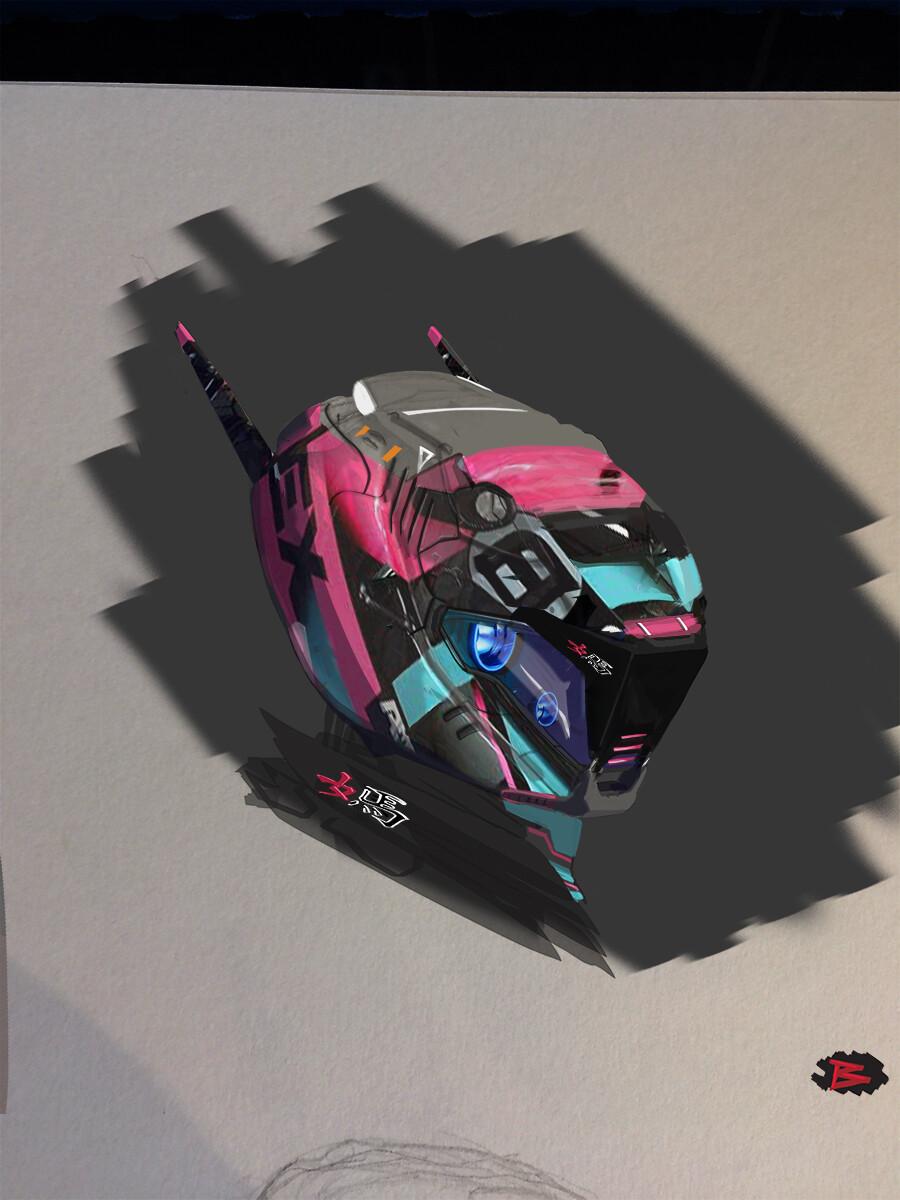 Racing helm