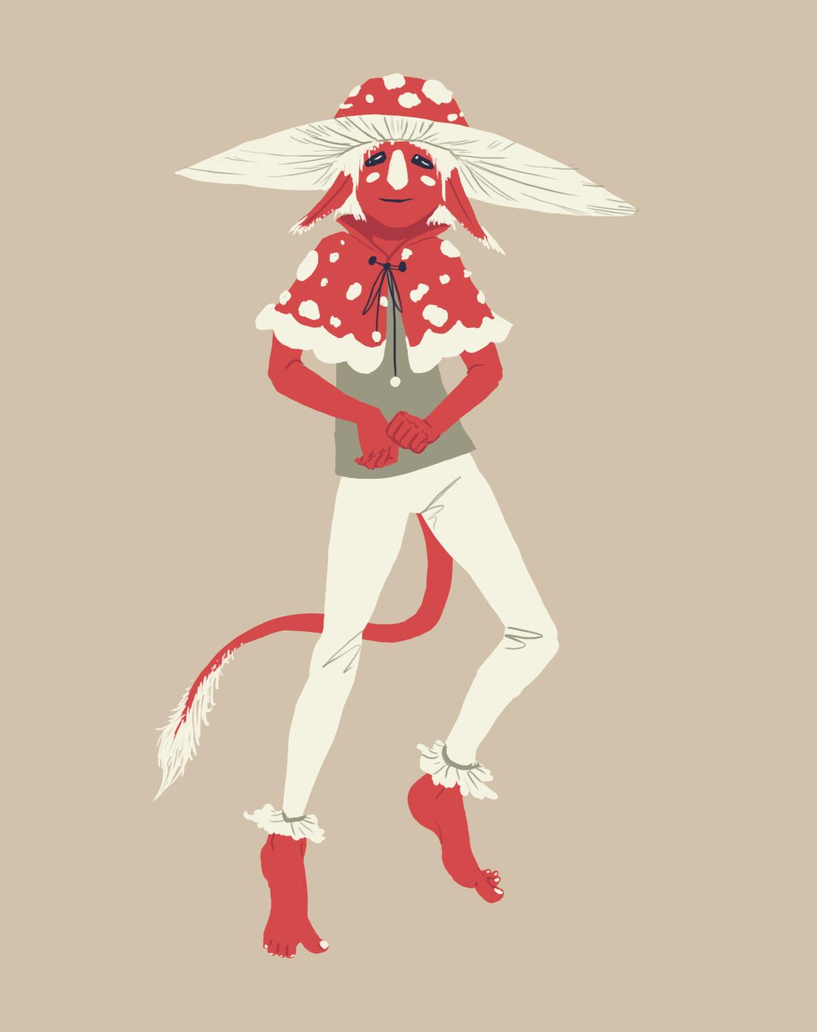 Troll Design Based Off Of Fly Amanita Mushroom