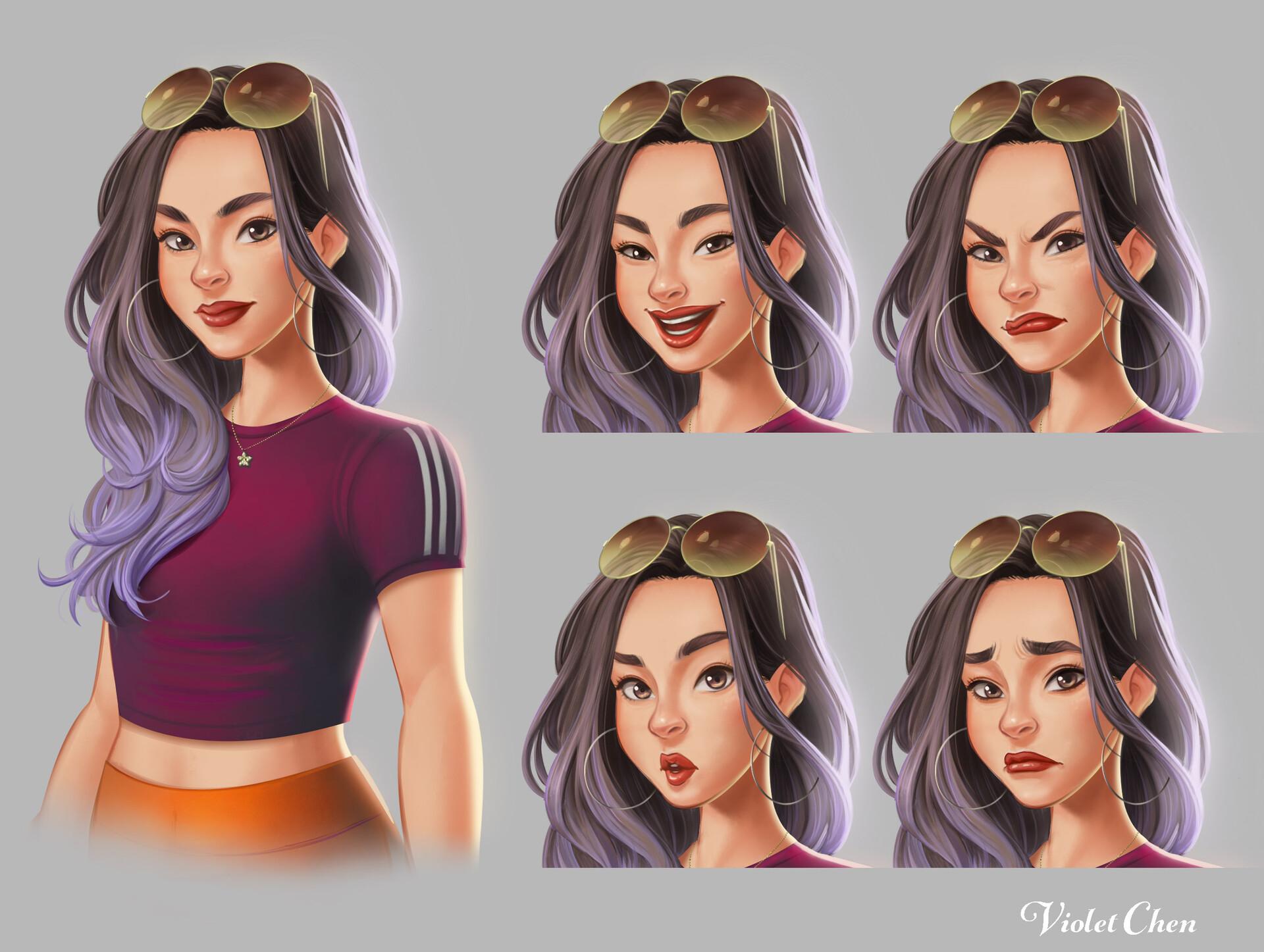 Character Art: Violet