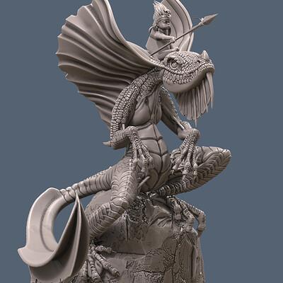 Stepan bolgov little boy on a dragon
