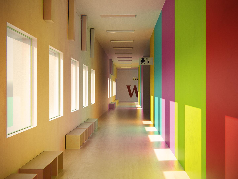 Dani palacio santolaria colorfullhallway v4