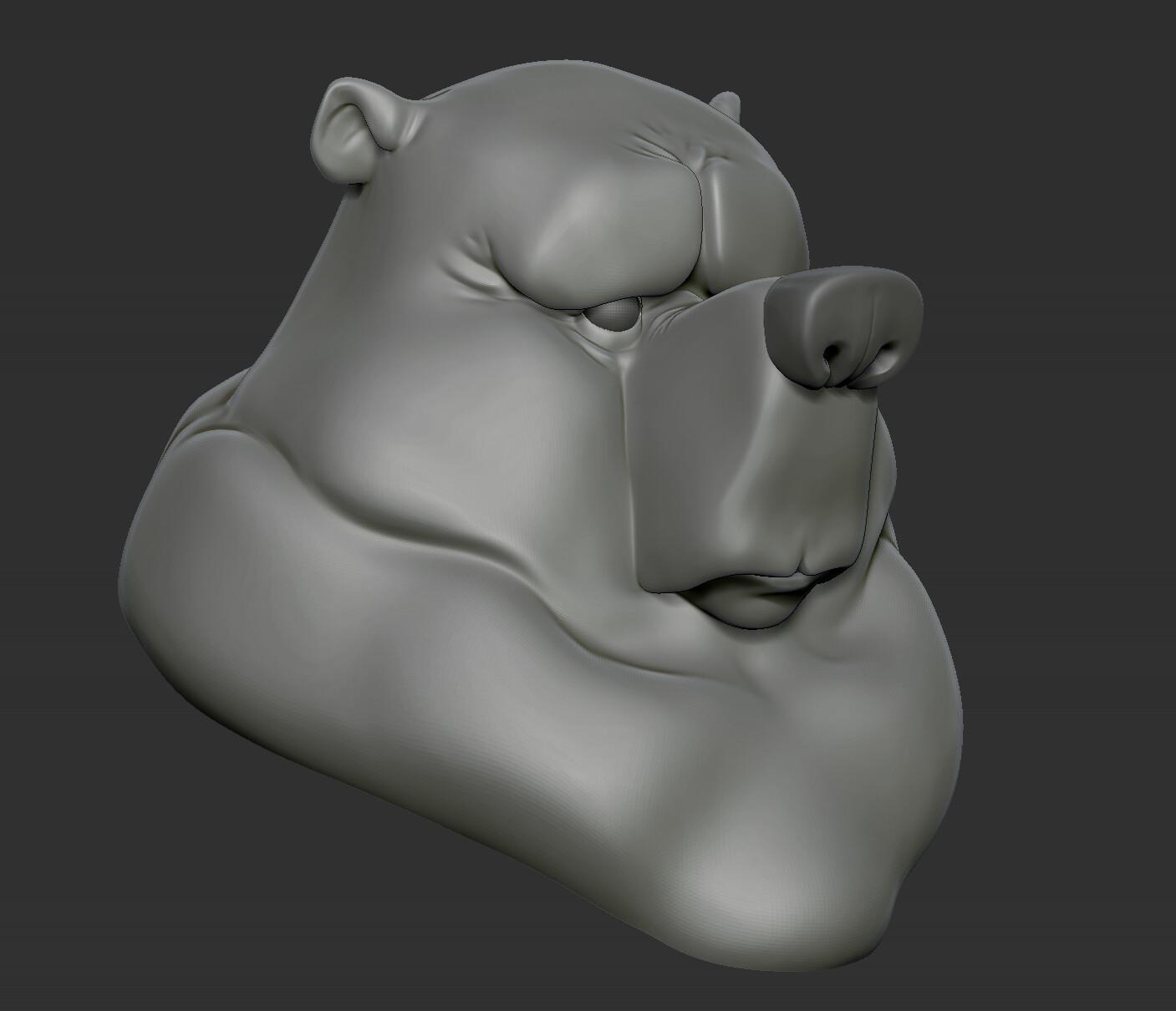 Javier diaz bear zbrush