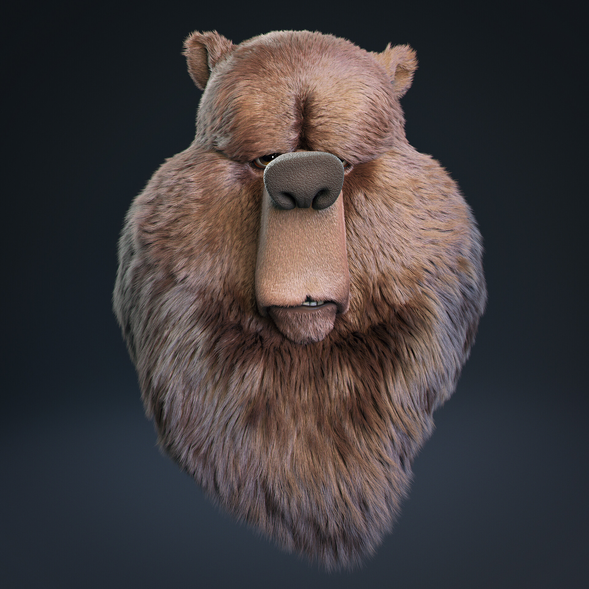 Javier diaz bear model v011 render cam 02