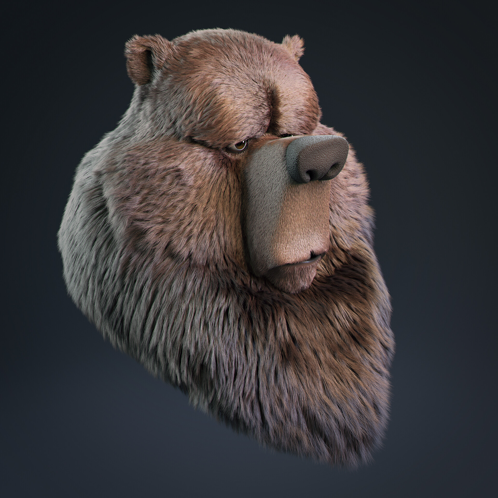 Javier diaz bear model v011 render cam
