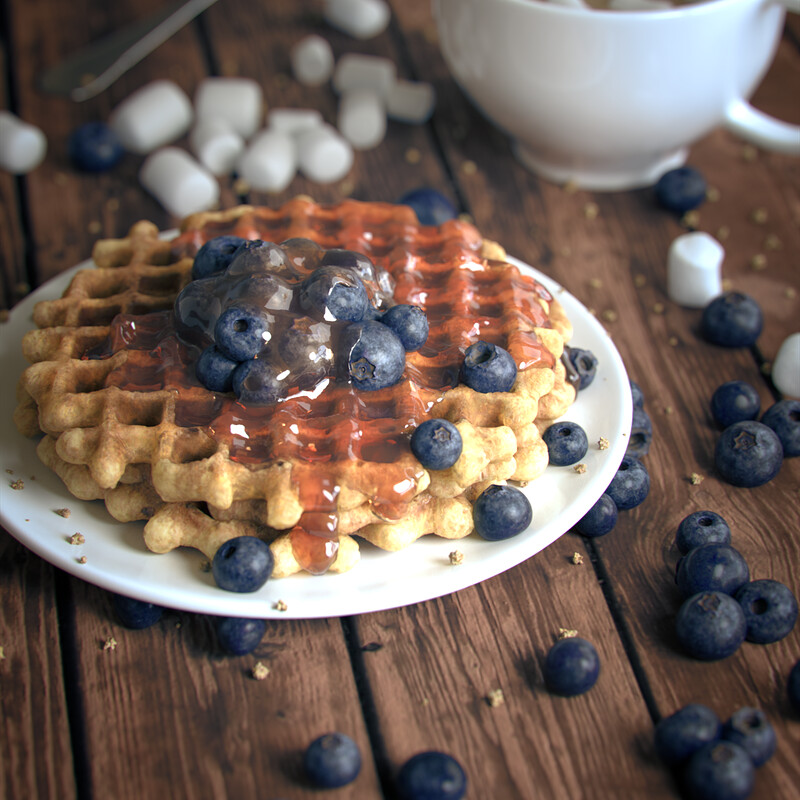 Blueberry Waffles - Look Development