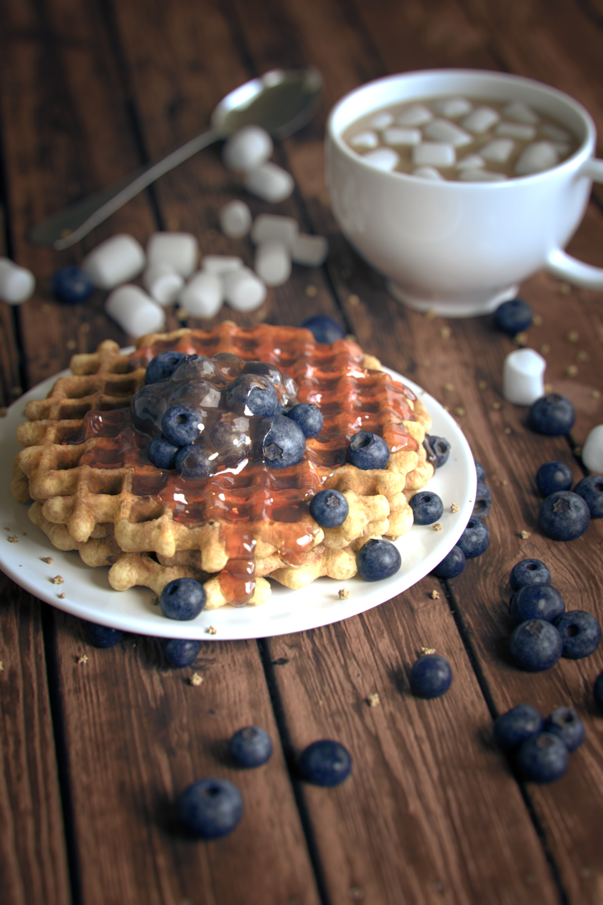 Blueberry Waffles - Overview