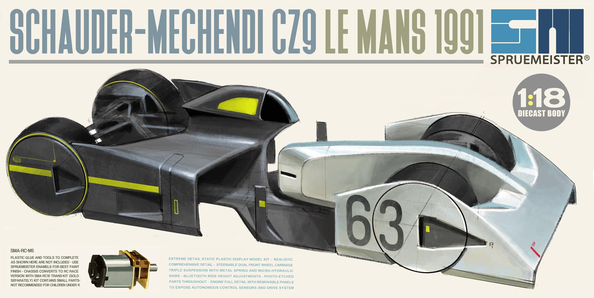 ArtStation - Schauder-Mechendi CZ9 1989 Automata Le Mans