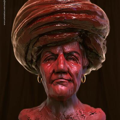Surajit sen jagan villageman digital sculpture surajitsen aug2019