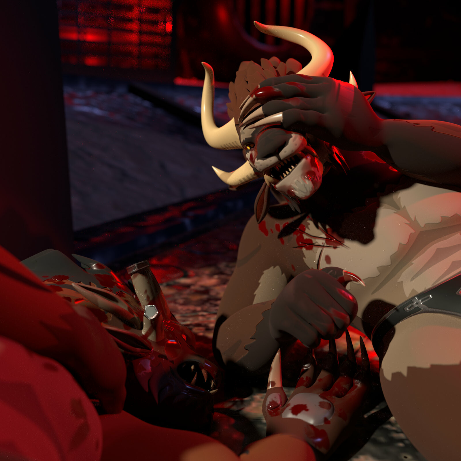 Mature version with blood