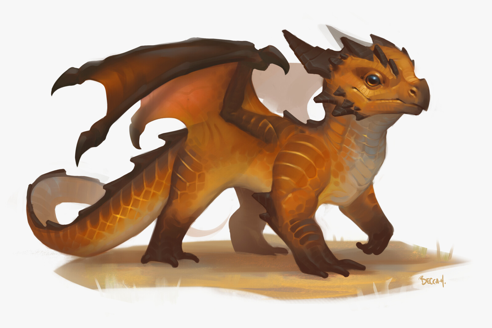 Desert Pseudodragon with process