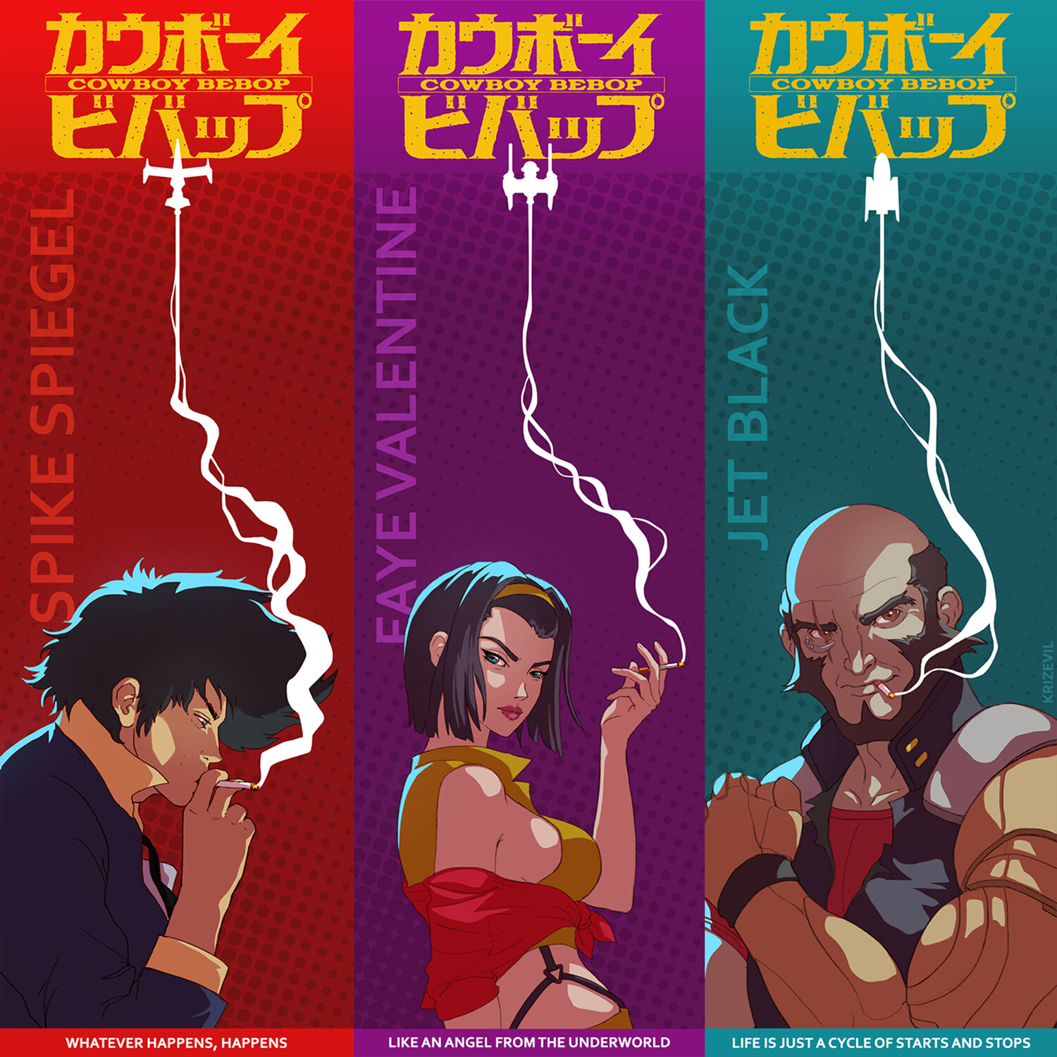 Cowboy Bebop bookmarks