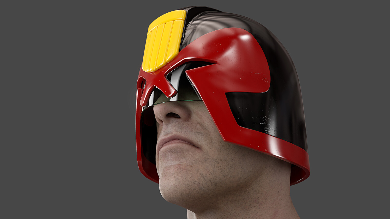 Brian Bolland Dredd Helmet