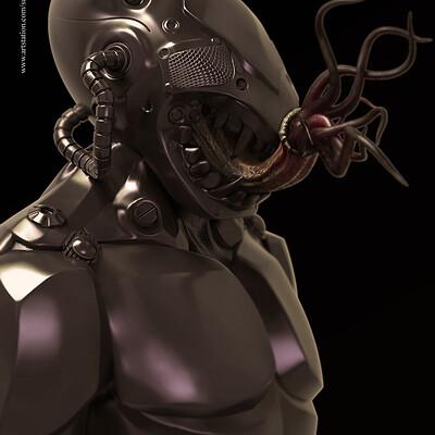 Surajit sen masky01 digital sculpture surajitsen aug2019