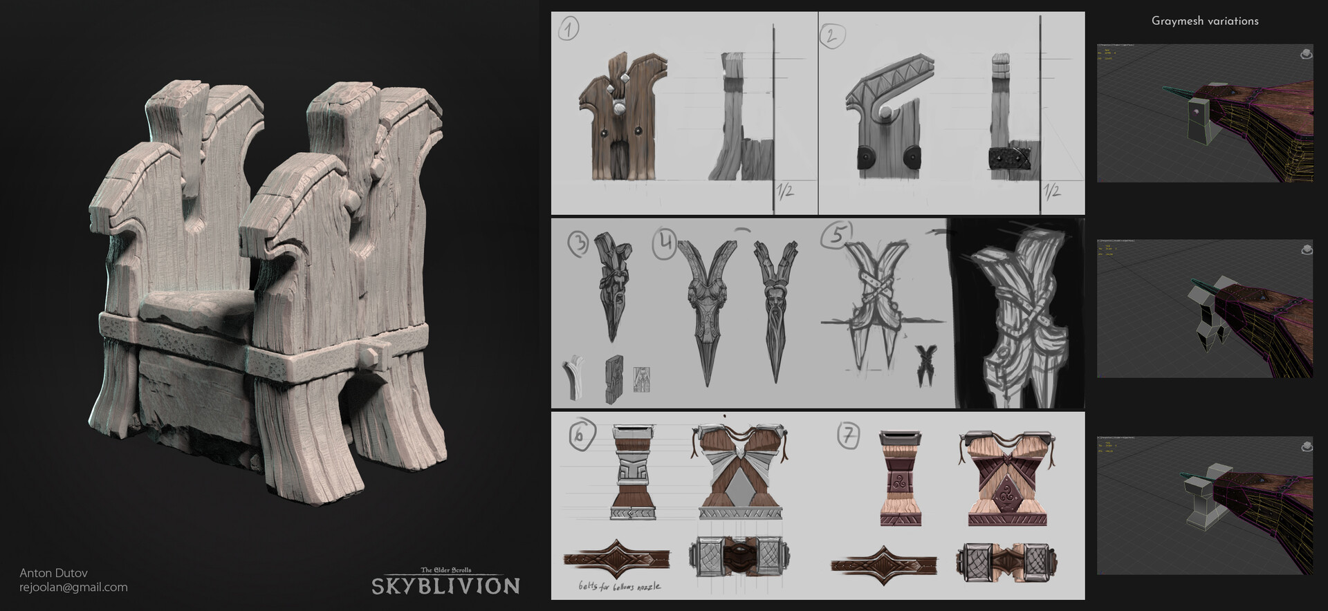 Bellows stand highpoly and concepts