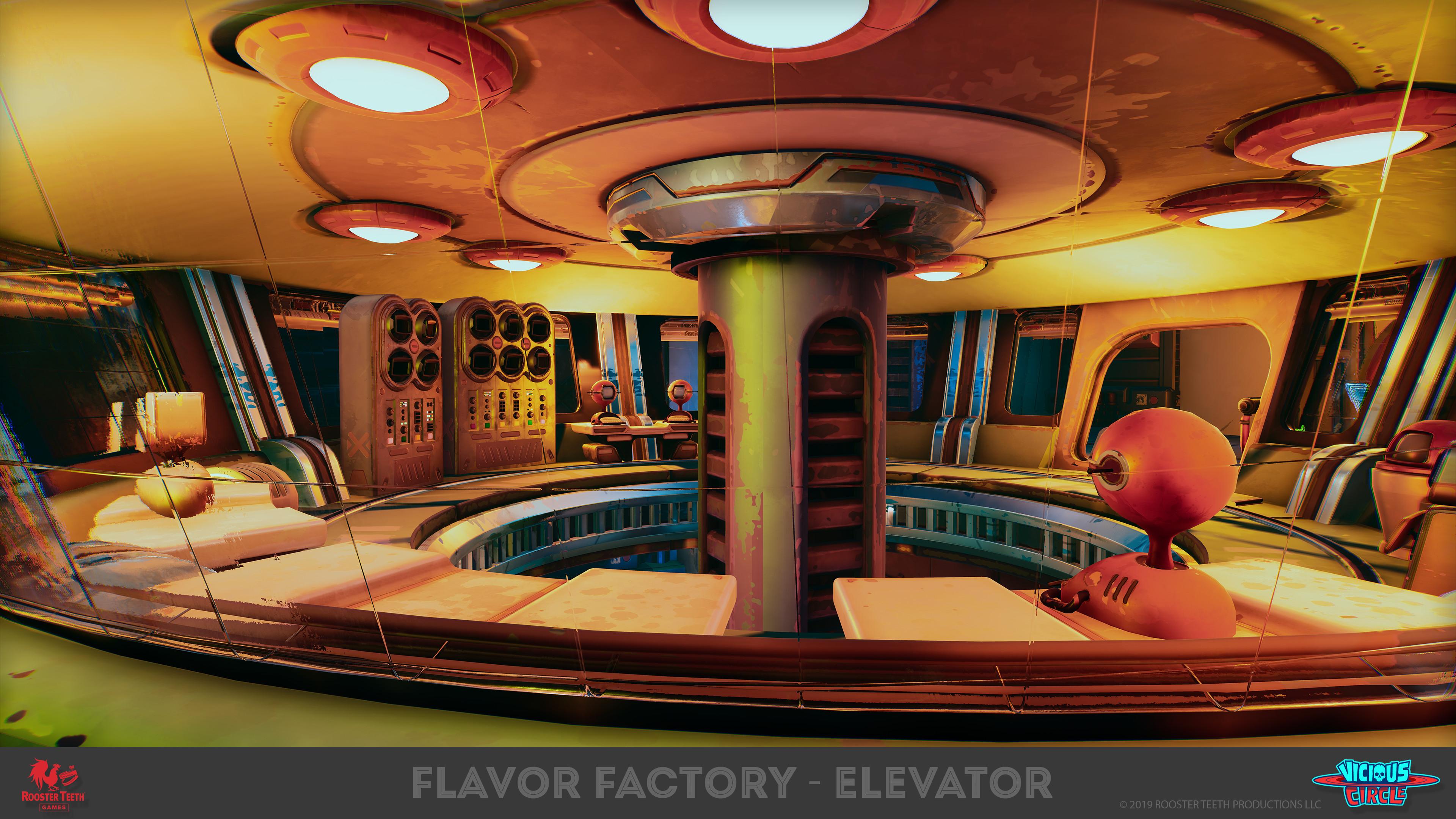 Elevator - In game Render