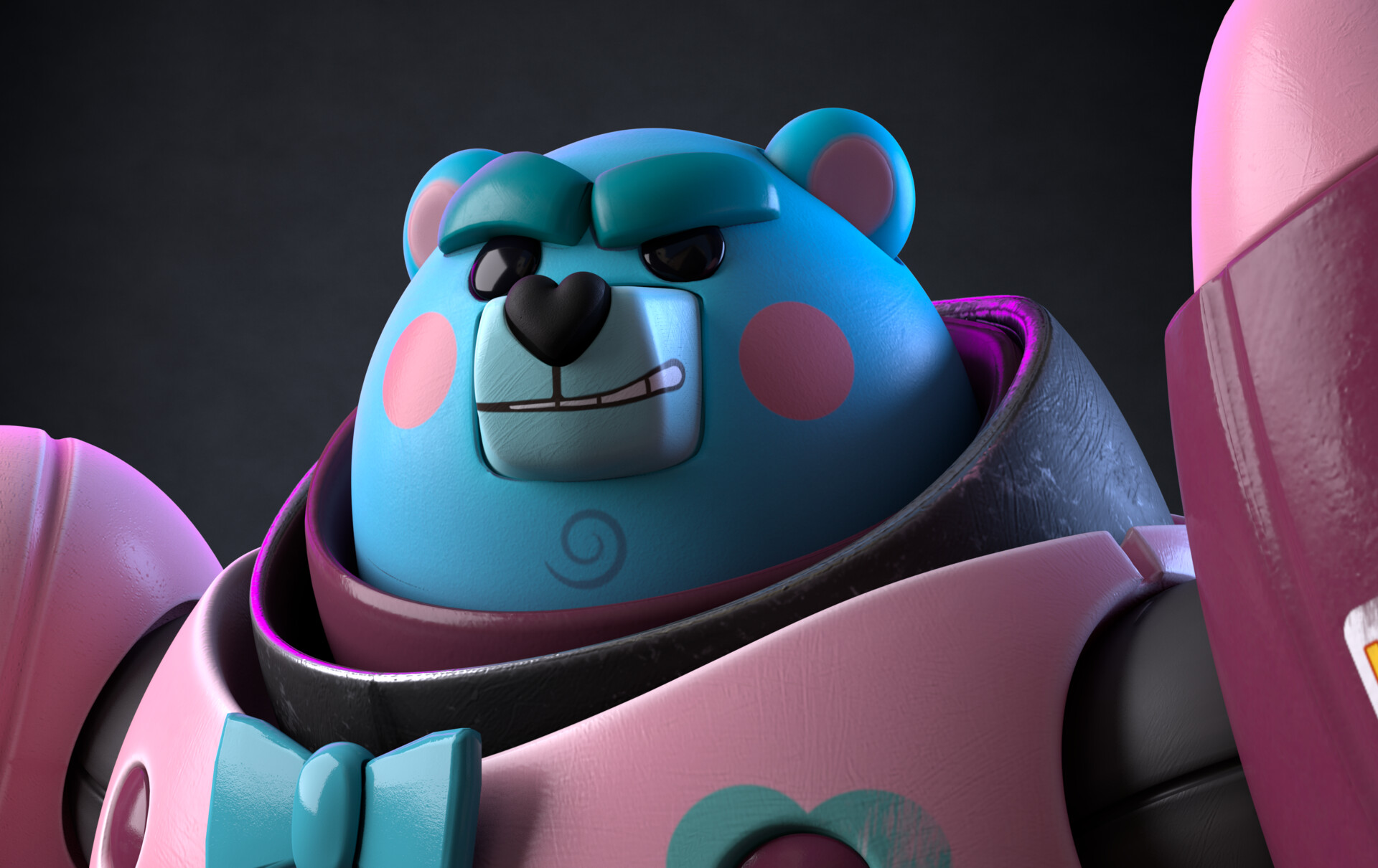 Julio lopez bear close up 1
