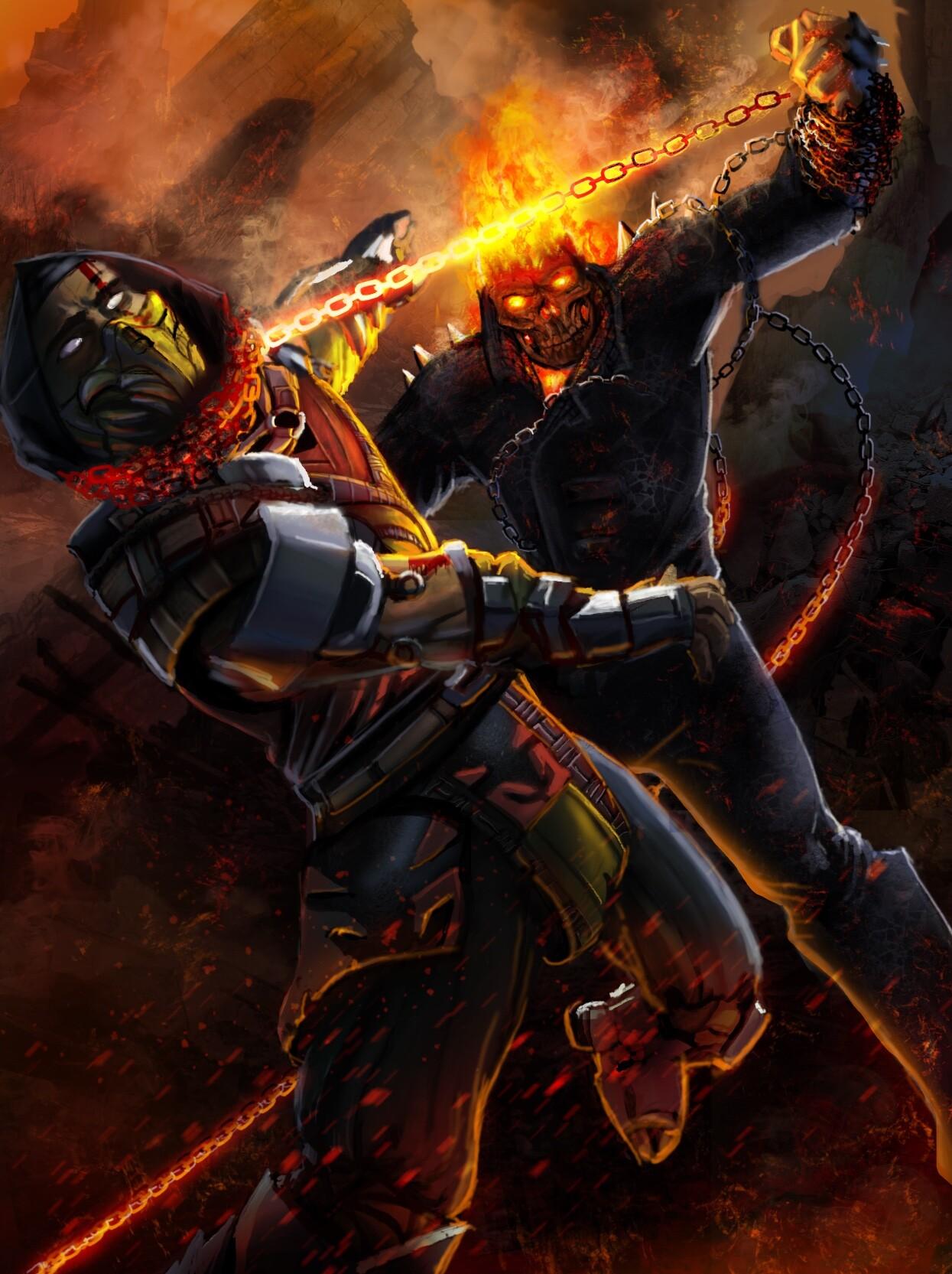 ArtStation - Ghost Rider vs Scorpion (2019 Remake ...
