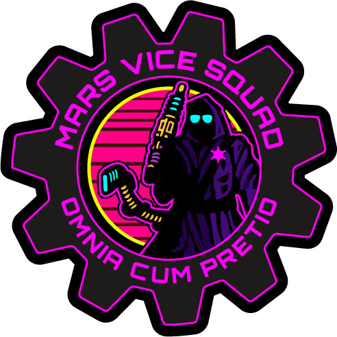 Mars Vice Squad - Patch Design