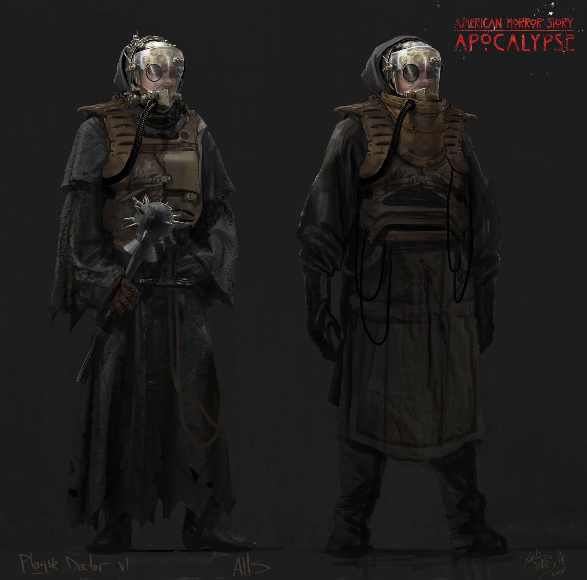 Artstation American Horror Story Apocalypse Costume Illustrations And 3d Printed Final Mask Xander Smith