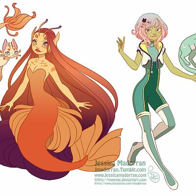 Jessica madorran character design space cat comic character designs 2019 artstation01