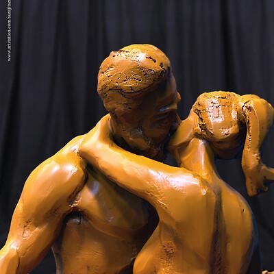 Surajit sen kiss digital sculpture surajitsen aug2019