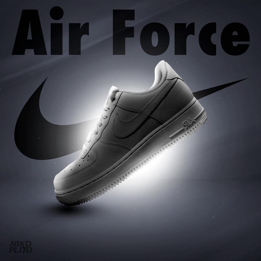 Artstation Nike Air Force 1 Advert Nikoplito Designer