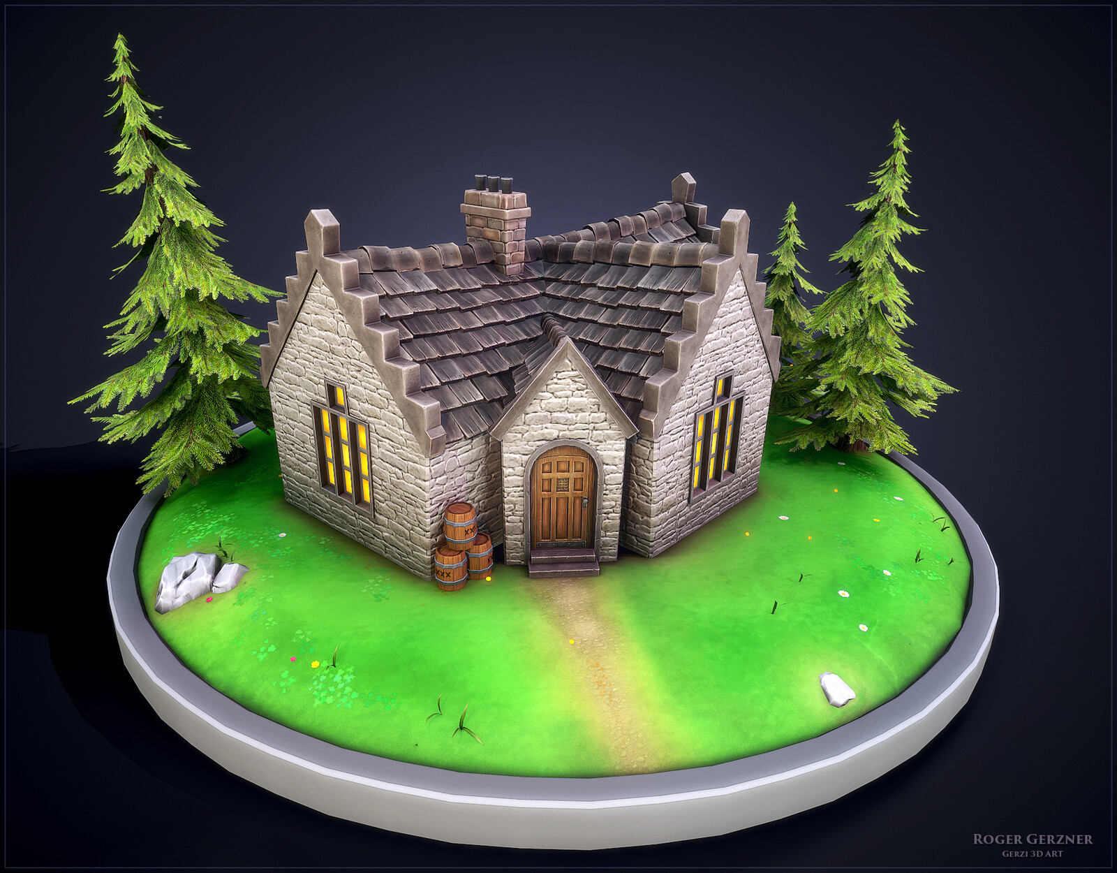 Stylized Scottish House