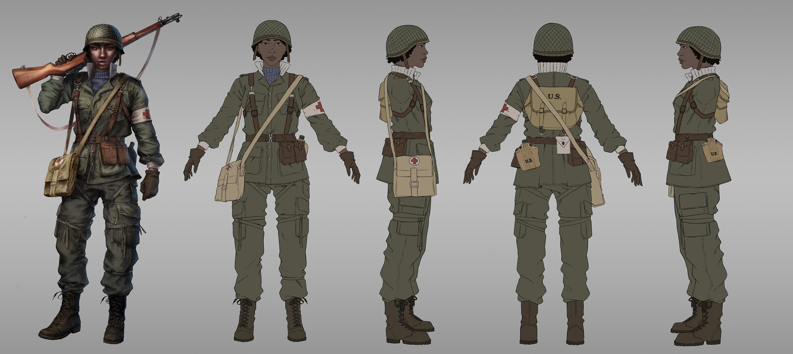 WW2 inspired character concepts - design breakdown