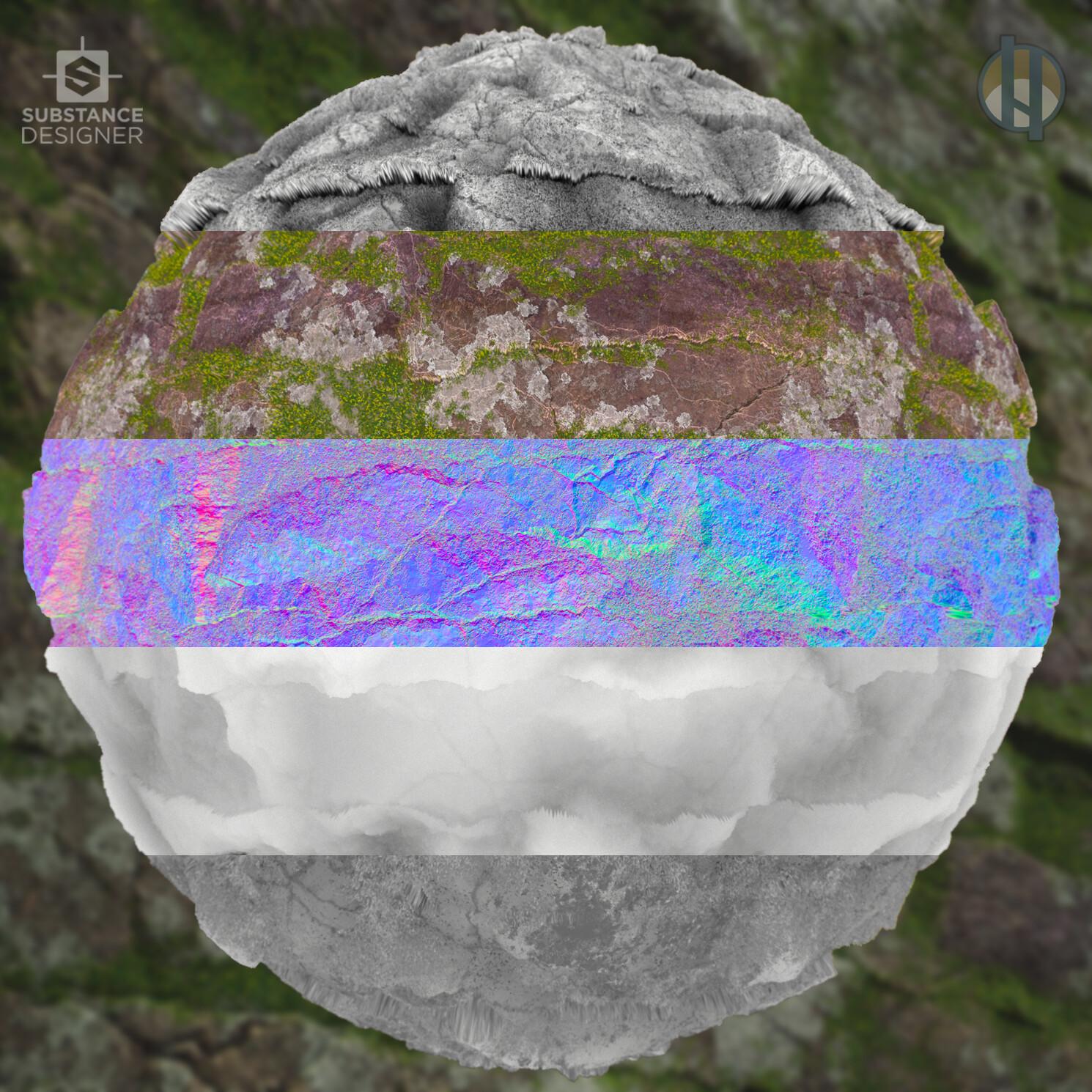 Justin hrala cliff rock jagged mossy breakdownjpg
