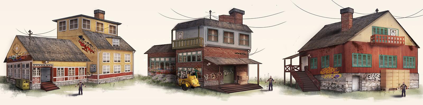 Soviet house bandit headquarters concepts
