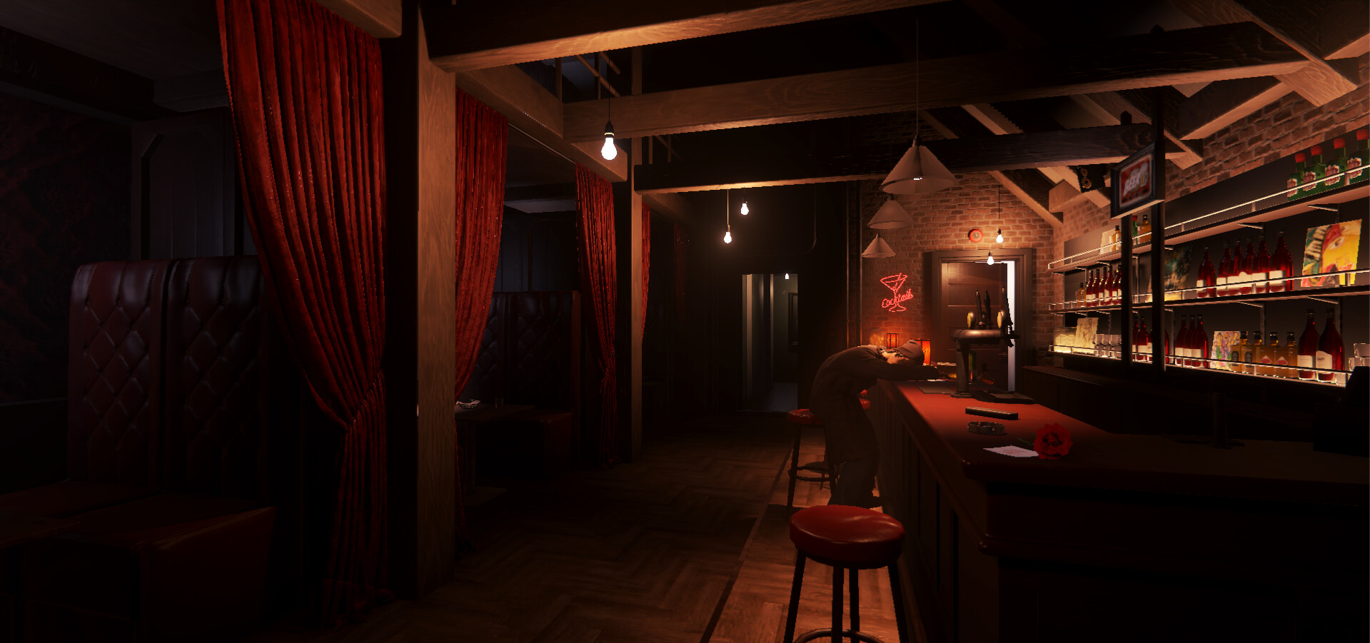 Lighting made in the first loop that has a warm mood.
