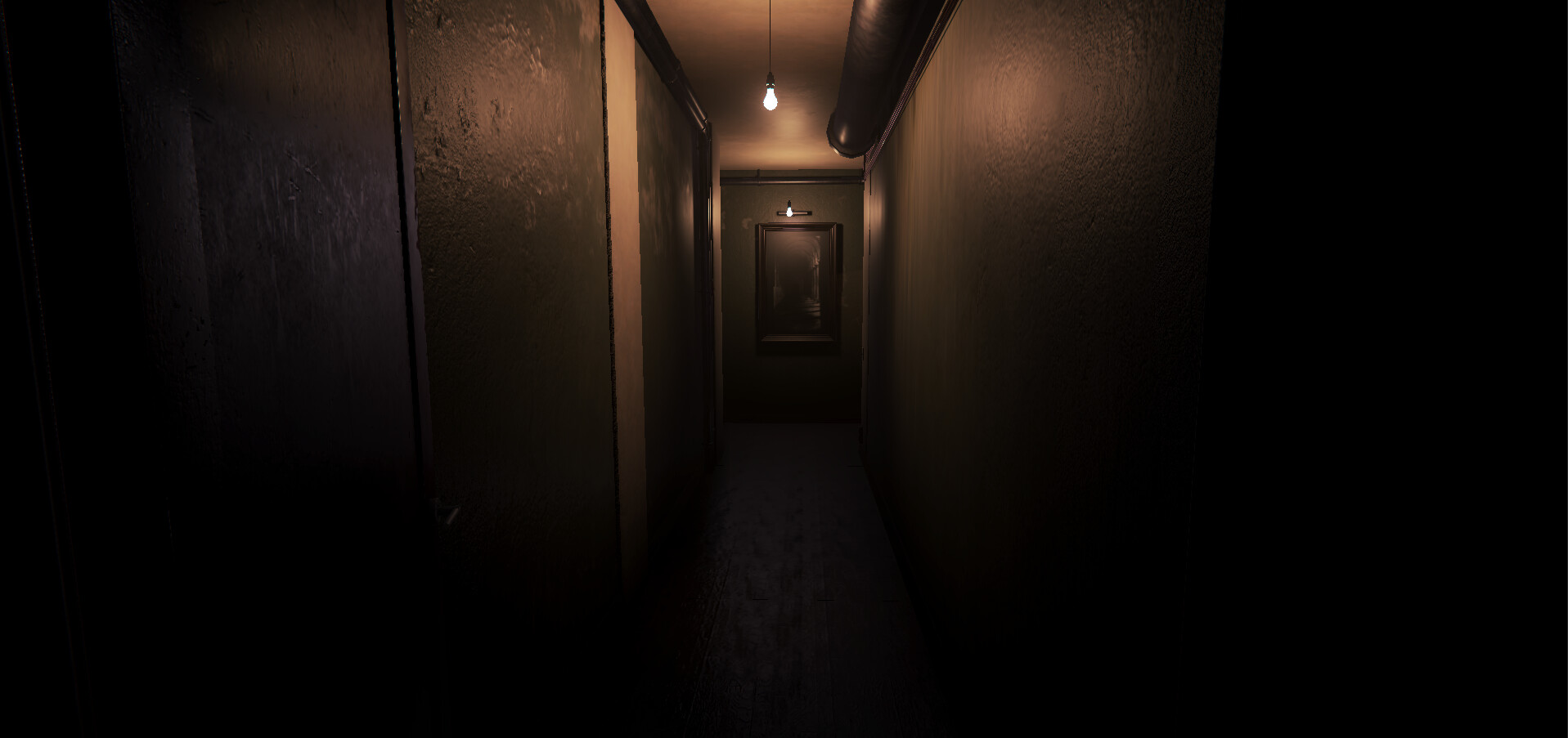 This is the lighting you see when you enter the corridor for the first time.