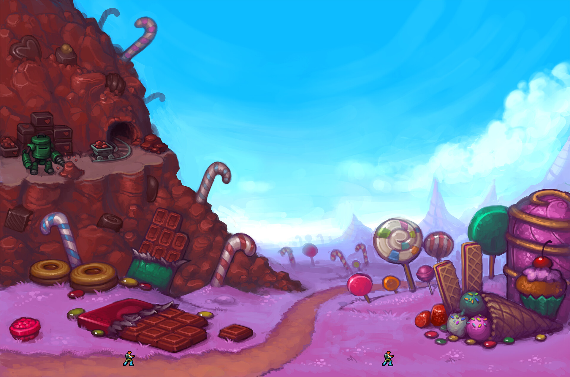 Every game needs a candy-land!