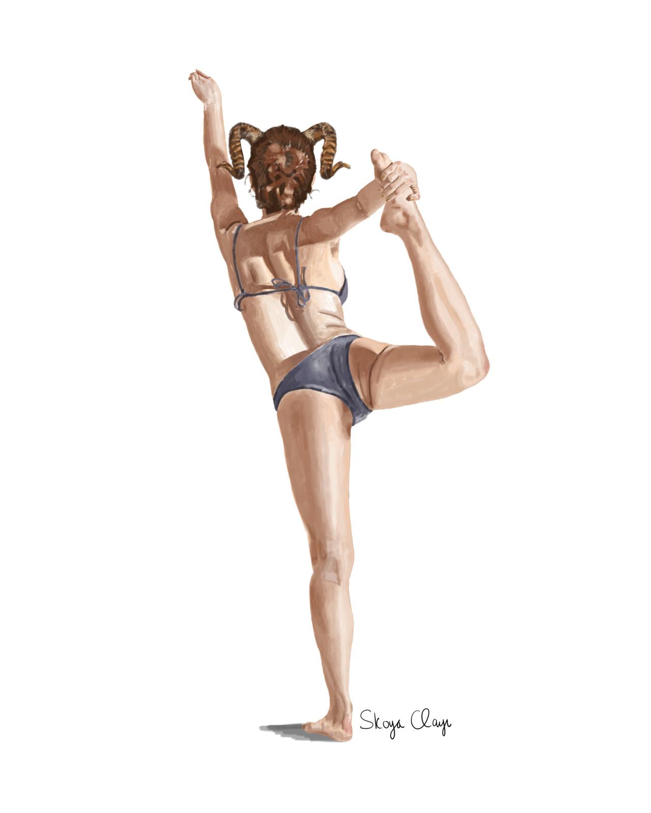 Dancing Horned Woman