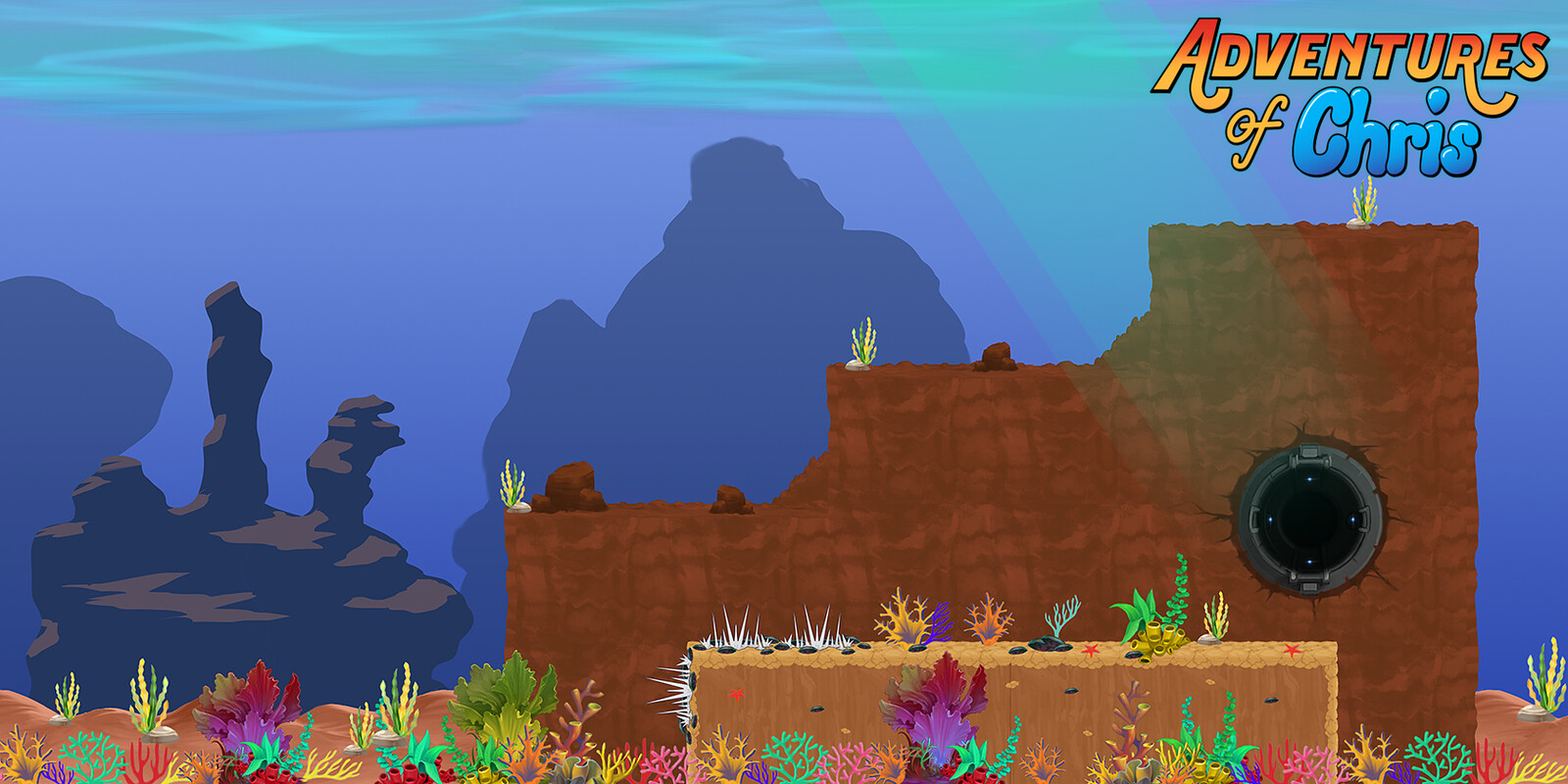 Underwater BG extended mockup with extra assets.