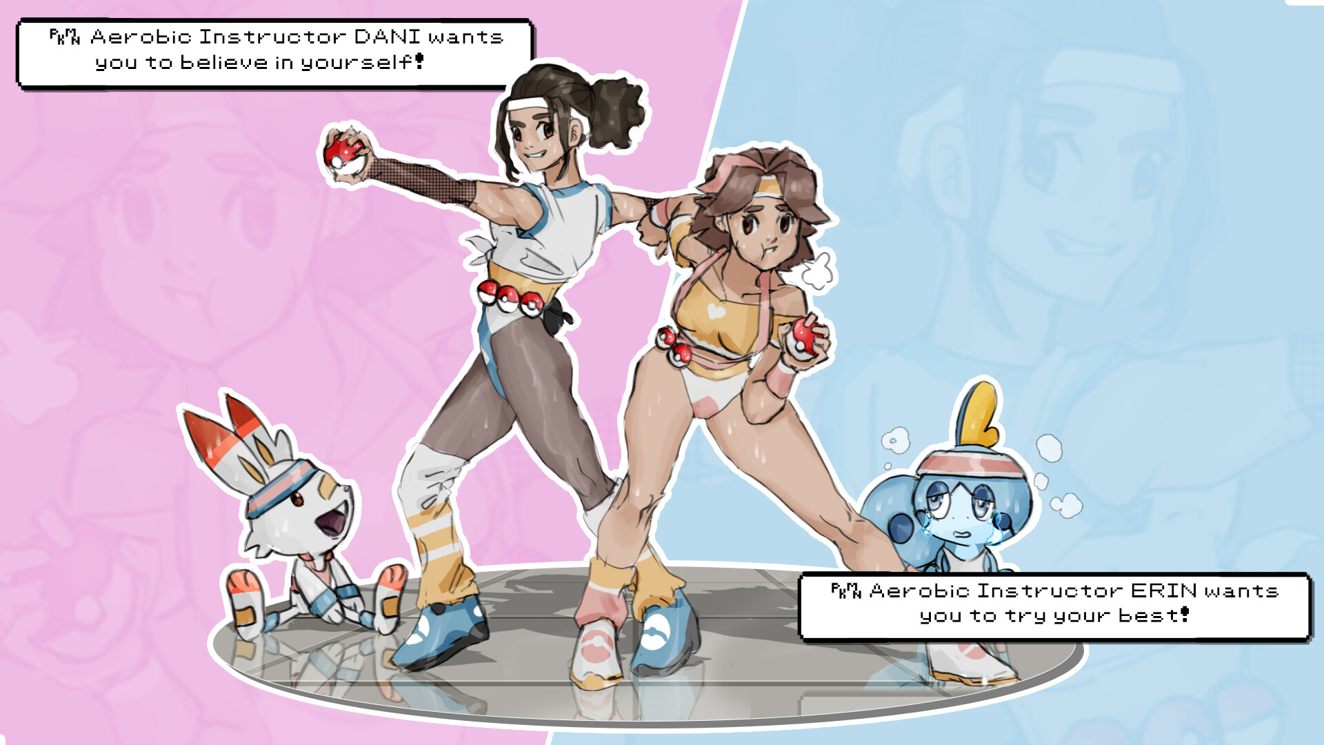 PKMN Aerobic Instructors ERIN & DANI want to battle!