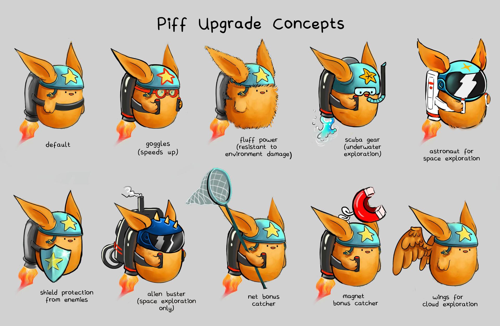 Shellz art piff upgrade concepts